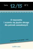 O nauczaniu i uczeniu się języka obcego dla potrzeb zawodowych