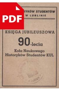 Księga Jubileuszowa 90-lecia KNHS KUL [e-book PDF]