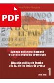 Sytuacja polityczna Hiszpanii wświetle artykułów prasowych