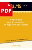 Méthodologie dans les recherches en acquisition des langues